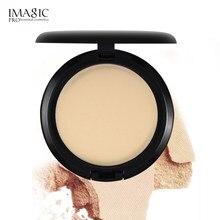 Imagic quatro-color pó solto maquiagem pó mel controle em pó óleo duradouro ocultando líquido impermeável vermelho seco pó convenien