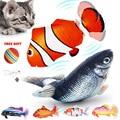 Игрушка для кошек, рыба с электрической зарядкой от USB, имитация рыбы, кошка для домашних животных, Жевательная интерактивная игрушка для ко...
