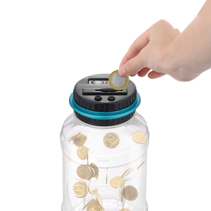 Piggy Bank Counter Coin Electronic Digital LCD Counting Coin Money Saving Box Jar Coins Storage Box For Coin High capacity