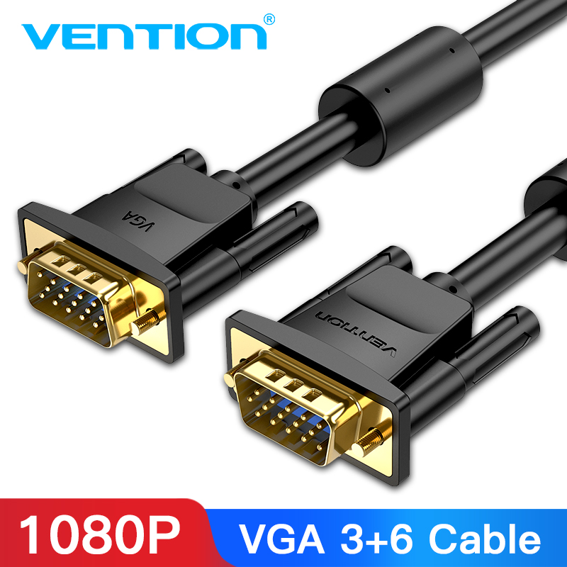 Vention <font><b>VGA</b></font> <font><b>Cable</b></font> <font><b>VGA</b></font> Male to Male <font><b>Cable</b></font> 1080P 1m 1.<font><b>5m</b></font> 20m <font><b>5m</b></font> 10m Cabo 15 Pin Cord Wire for Computer Monitor Projector <font><b>VGA</b></font> <font><b>Cable</b></font> image