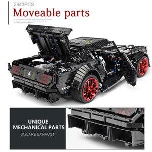Image 5 - DHL 20102 teknik motorlu araba serisi uyumlu MOC 16915 Mustang Hoonicorn ile Motor fonksiyonu araba oyuncak yapı taşları