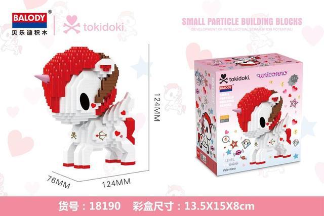 871pcs+ Cartoon Rainbow Unicorn Building Blocks Micro Bricks Cute Horse Mini Figure Assembled Toys For Kids Collection