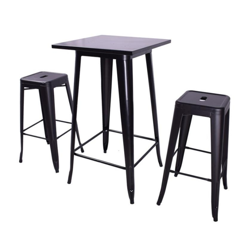 Bar Tables Kitchen Dining Table Modern Simple Leisure High Table Bar Coffee Table Household Furniture 60*60*103cm HWC