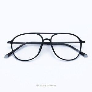 Image 3 - טונגסטן פחמן פלסטיק פלדה שני גשר קוצר ראיה מרשם אופטי משקפיים מסגרת גברים נשים עם הדגמה עדשת Oculos