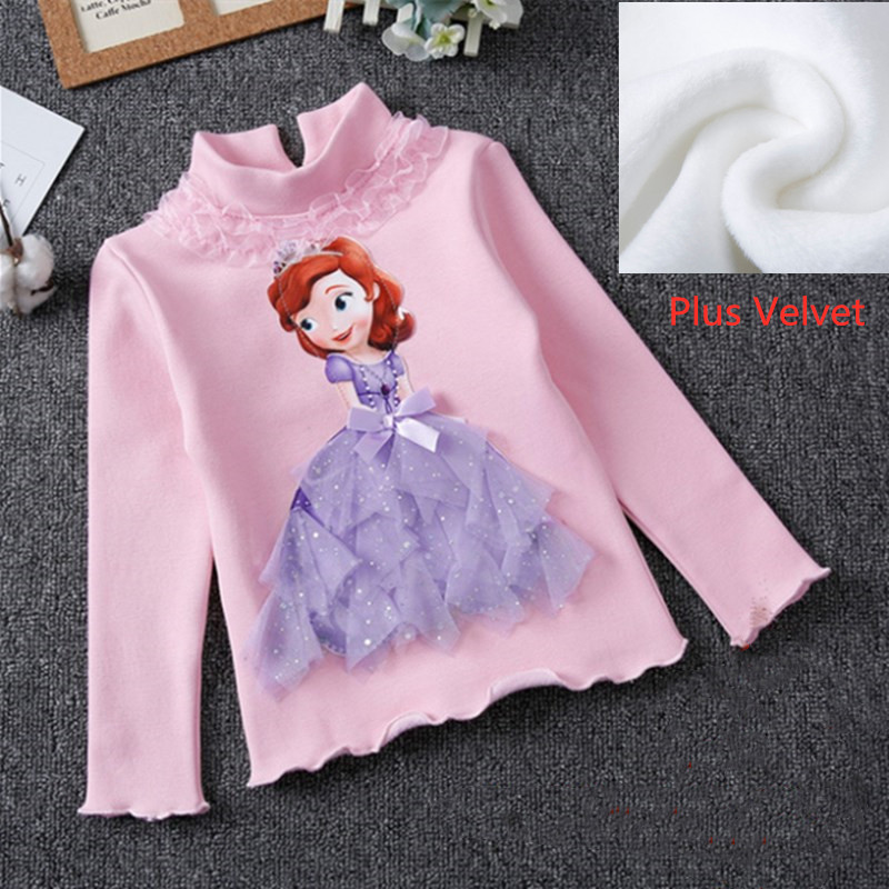 Girls New Summer Princess T-Shirt Elsa Childen Cotton Tees Lace T Shirt 3D Diamond Appliques Kids Birthday Party Top Clothing 18