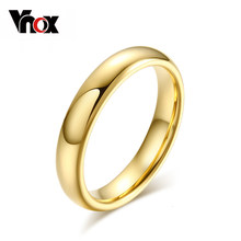 Vnox Classic 4.0mm Tungsten Ring for Women Trendy Wedding Jewelry Hand Polishing US 5 6 7 8 9(China)