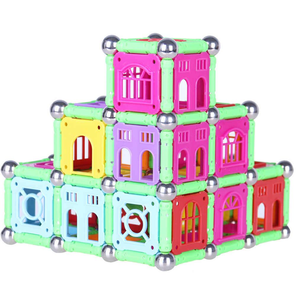DIY Magnetic Designer Building บล็อกแม่เหล็กบาร์ลูกบอลโลหะแม่เหล็กก่อสร้างของเล่นสำหรับของขวัญเด็กการศึกษา