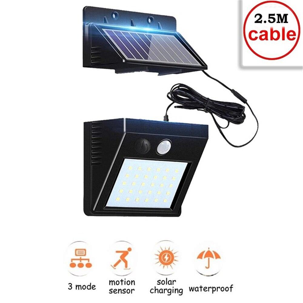 30 led de energia solar lâmpada pir sensor movimento luz parede ao ar livre à prova dwaterproof água poupança energia rua jardim quintal segurança luz interior h