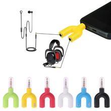 New 3.5mm Double Jack Adapter to Headphone for MP3 Player Earphone Splitter U type earphone splitter
