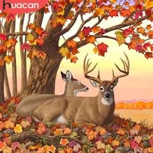 HUACAN Diamant Malerei Kit Tier Deer 5D DIY Diamant Stickerei Kreuz Stich Herbst Bilder Von Strass Mosaik Handwerk Kit