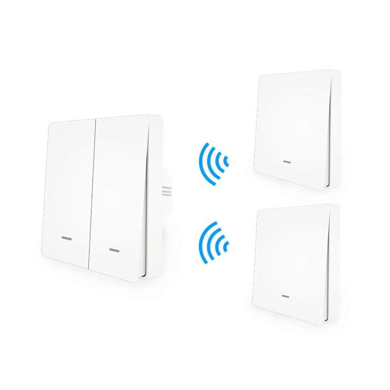 MoesHouse WiFi Smart Push Button Switch RF433 Pannello a Parete Trasmettitore Kit vita Intelligente App Telecomando Funziona Casa