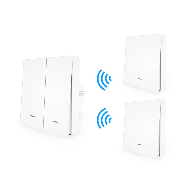 MoesHouse WiFi Smart Push Button Switch RF433 Wall Panel Transmitter Kit Smart Life App Remote Control Works Home