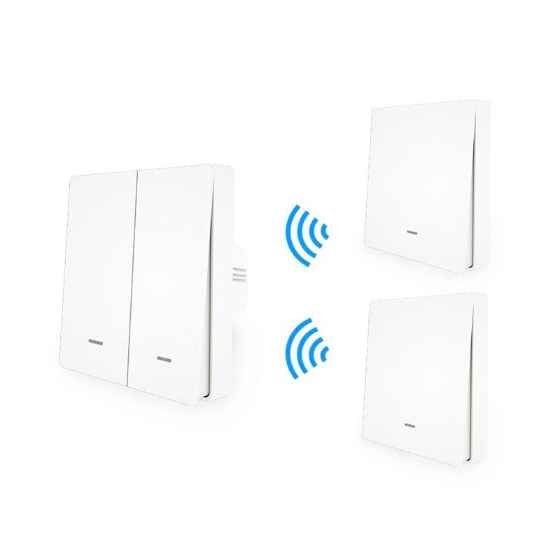 Moeshouse 와이파이 스마트 푸시 버튼 스위치 rf433 벽 패널 송신기 키트 스마트 라이프 app 원격 제어 작동 홈