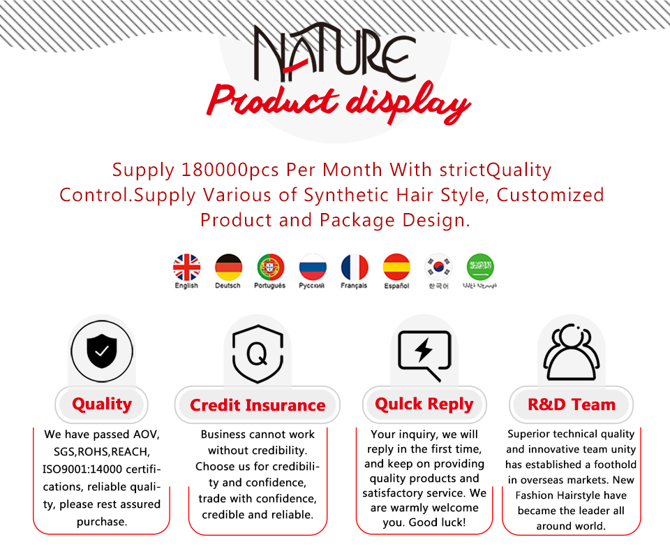 Natureza Cabelo Sintético Afro Kinky Curly Weave