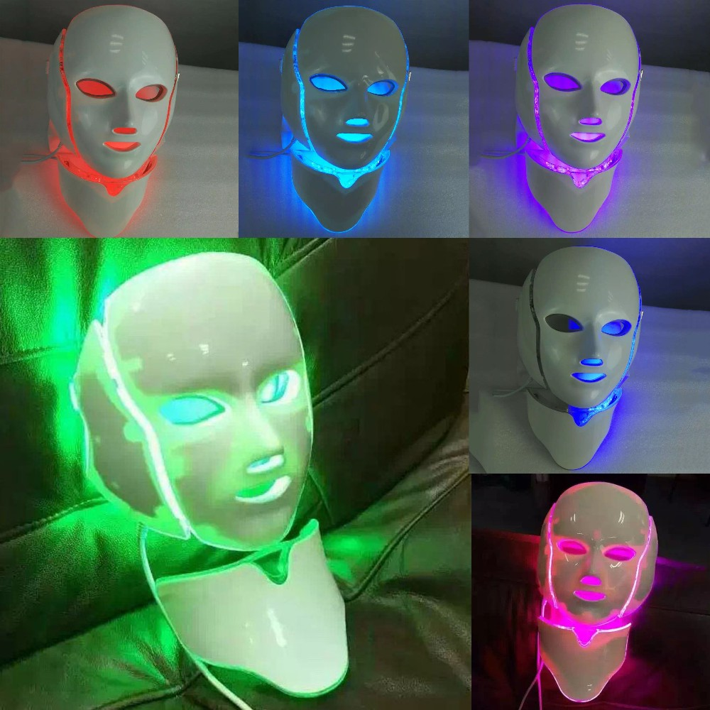 Best Choice 7 Colors LED Photon Facial Mask Therapy Machine Light Therapy Acne Mask Neck Beauty Led Mask