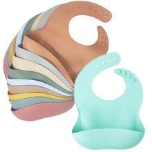 Silicone Bib Waterproof Infant Bibs Fashionable Baby Newborn Feeding Cloth Toddle Bibs Adjustable Saliva Towel For Boys Girls
