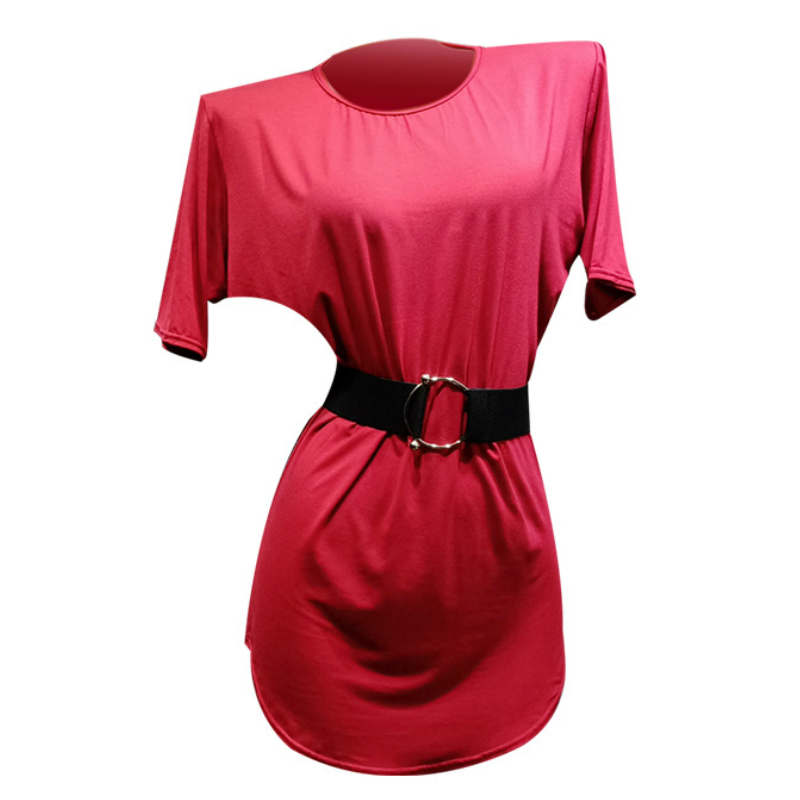 Latin Dance Clothing Female Adult New Practice Clothes Short Sleeve Loose Dance Skirt Tops tango dress women