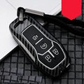 Carbon Faser Legierung Auto Remote Key Fob Shell Abdeckung Fall Für Ford Fusion Mondeo Mustang F-150 Explorer Rand 2015 2016 2017 2018