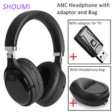 Active Noise Cancelling Wireless Headphone USB Bluetooth Adaptor for TV Bluetooth Stereo Headset ANC Headset with Microphone Bag