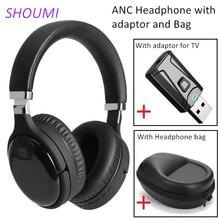 Active หูฟังไร้สาย USB Bluetooth อะแดปเตอร์สำหรับทีวีชุดหูฟังสเตอริโอบลูทูธ ANC ชุดหูฟังไมโครโฟนกระเป๋า