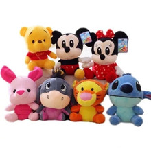 цена на Disney Mickey Mouse Minnie Stuffed Doll Plush Toys Animals Stitch Vigny Bear Children Birthday Gifts