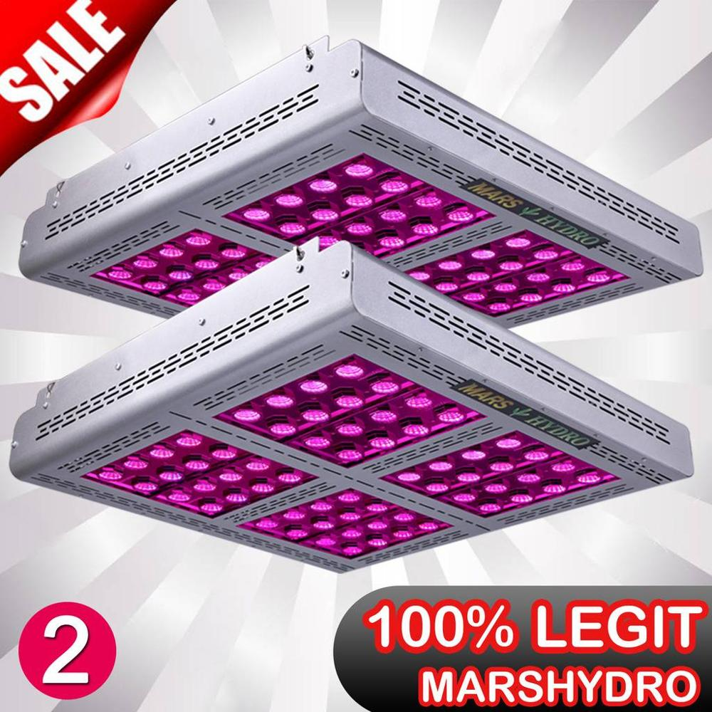 2PCS Mars Pro II Epistar 1600W LED Full Spectrum Grow Light Veg Flower Hydroponic Lamp Best For Hydro Plants 750W
