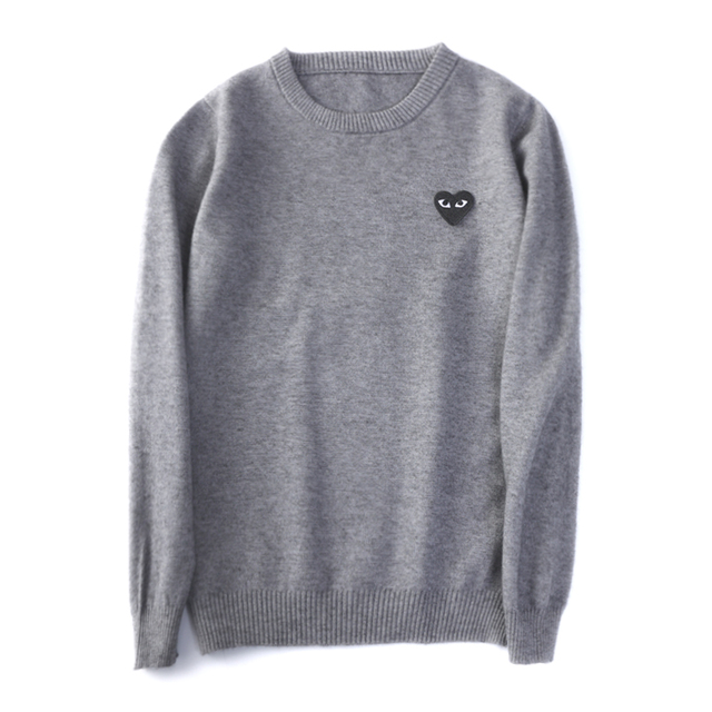 (have eyes)Wool Sweater CoupleLong sleeve Cashmere Pullover Menand Women Spring Autumn O-neck Sweater With Love Knitted Sweater 4