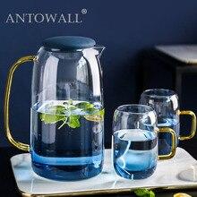 ANTOWALL стеклянный холодный чайник бытовой термостойкий высокой температуры взрывозащищенный холодный большой емкости чайник для воды