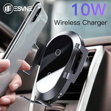 ESVNE 10W QI Phone Holder Car Wireless Charger For Iphone X XR XS MAX 8 7 Huawei Samsung S8 S10 Mount Universal