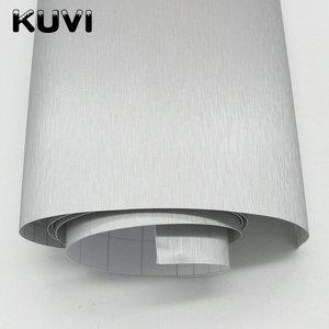 Image 4 - 10cm/20cm/30cmx152cm Car Styling Silver Metallic Brushed Aluminum Vinyl Matt Brushed Car Wrap Film Sticker Decal With Bubble