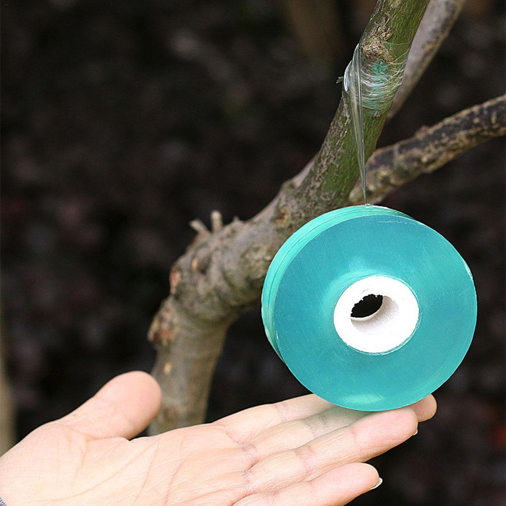 2CM Wide PVC Fruit Tree Grafting Tape Wrapping Film Self-adhesive Plastic Film Wrapping Tape Stretchable Gardening Graft Trees