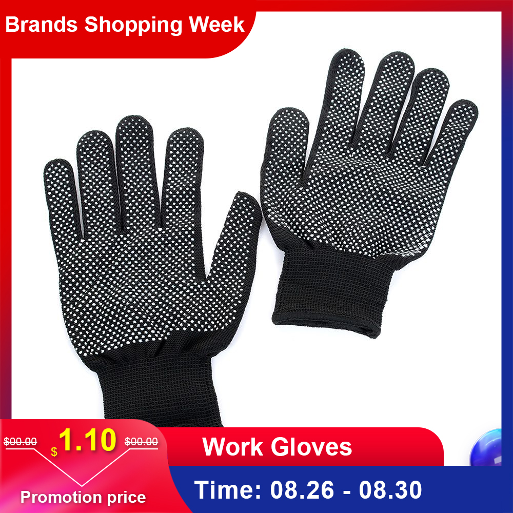 2pcs Heat Resistant Protective Glove Hair Styling For Curling Straight Flat Iron Work Gloves Safety Gloves High Quality Anti-cut