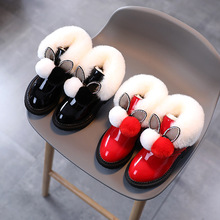 Winter Boots for Toddler Girl Leather Shoes Fashion Sequins Pearl Plush Warm Girls Ankle Boots Baby Girl Shoes SP094