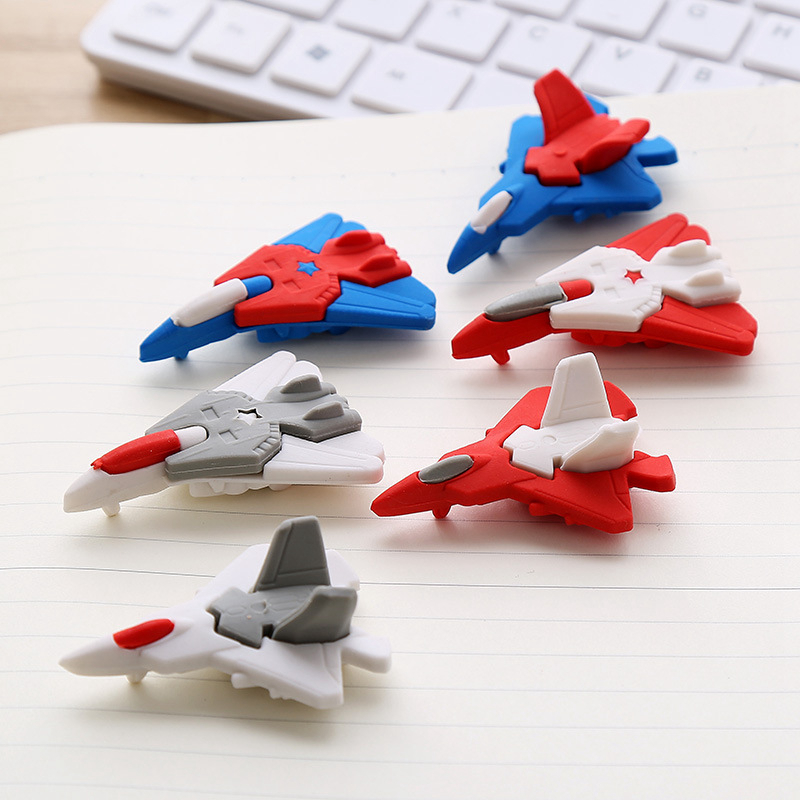 Creative Airplane Children Eraser Set School Supplies Student Stationery Rubber Eraser Correction Supplies Kids Cute Toy Gift