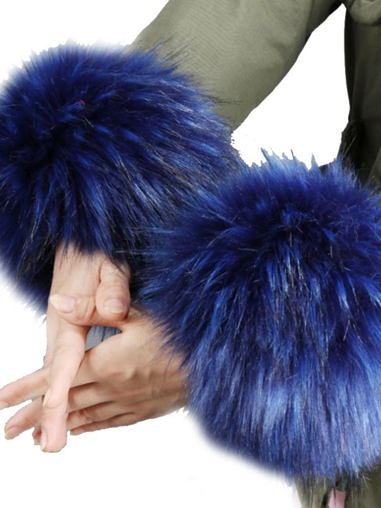 Faux Fur Wristband Sleeve Wrist Cuffs Warm Cover Faux Fur Wrist Cuff Soft And Fluffy Wrist Band Rings For Autumn Winter Clothes