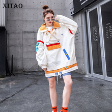 XITAO Plus Size Vrouwen Hoodies Mode Nieuwe 2019 Patchwork Winter Pocket Kleine Verse Casual Volledige Mouw Minderheid Hoodies DMY1079