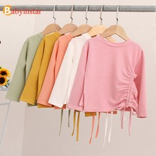 Babyinstar Girl T-shirt Kids Clothing Autumn Baby Girl Clothes 2019 Fashion School Shirts For Girls Birthday T-shirts For Teens(China)