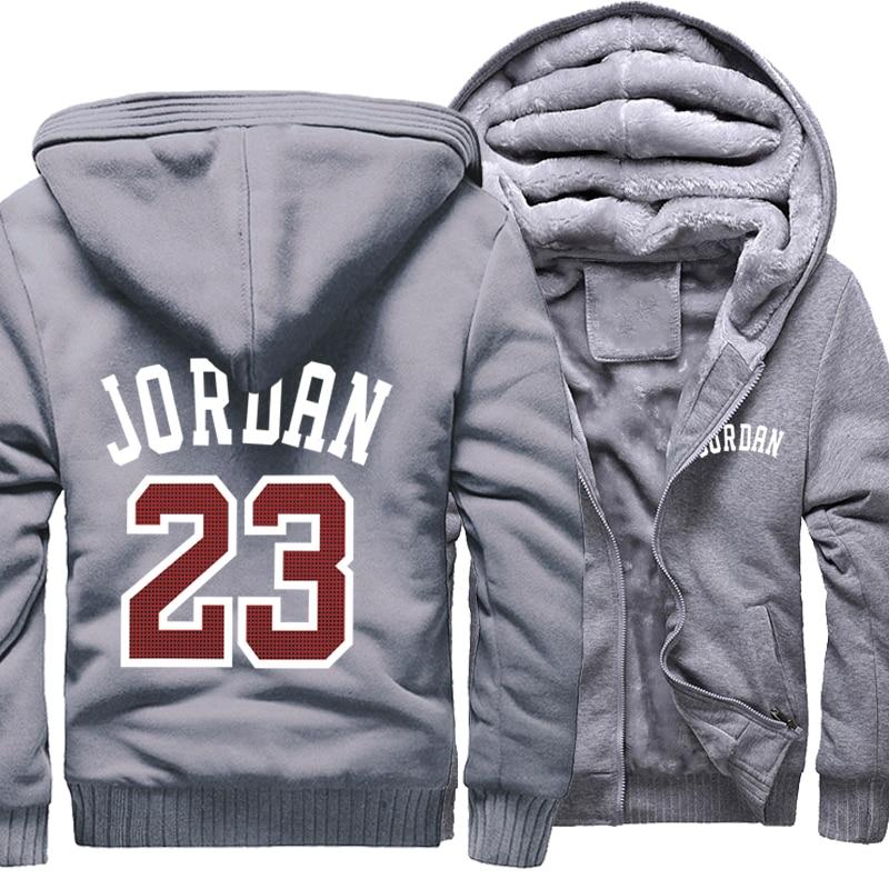 Image 4 - Men Hoodies Jordan 23 Thick Jacket 2019 Winter Sweatshirts Raglan Mens Streetwear Coat Thick Jacket Hip Hop Hoodies Harajuku-in Hoodies & Sweatshirts from Men's Clothing