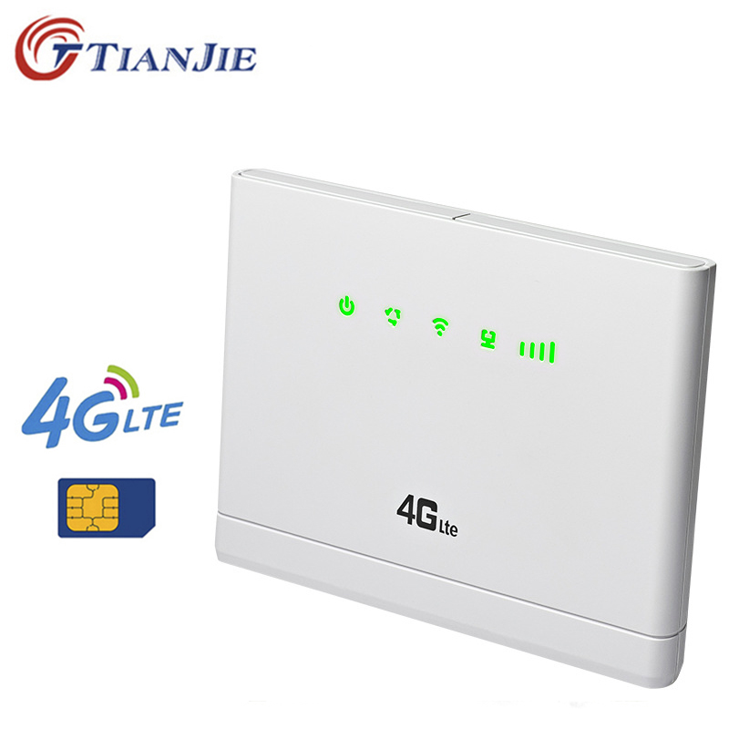 TianJie 4G Wifi Router Cpe Wifi Network Antenna Modem Mobile Wifi Hotspots Broadband with Sim card Slot for Home Travel image