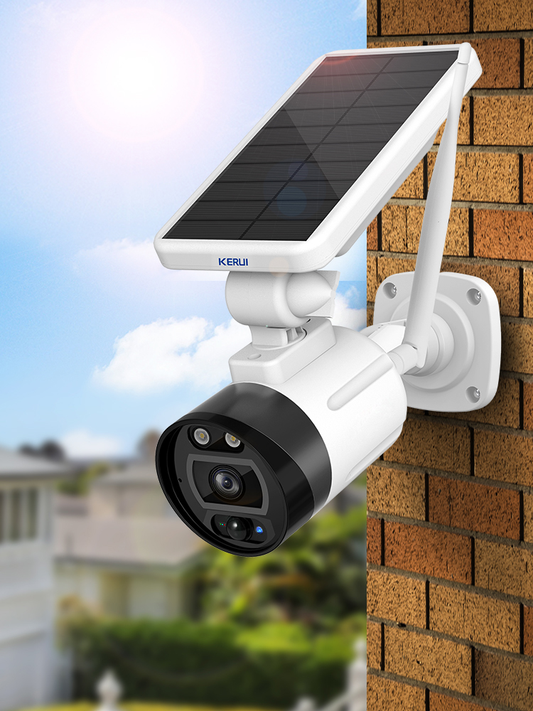 KERUI Battery Camera Cloud Wifi Outdoor CCTV Surveillance Solar Alexa Security Ip66 Waterproof