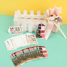 50Pcs/lot Merry Christmas DIY Kraft Tags Labels Gift Wrapping Paper Hang Tags Cards Party Supplies