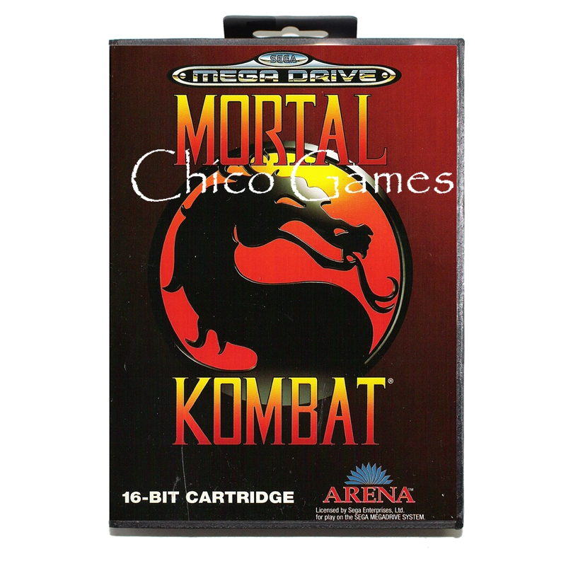Sega MD games card - Mortal Kombat EU Cover for Sega MegaDrive Video Game Console 16 bit MD card