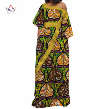 New african dresses for women bazin riche style femme african clothes graceful lady print wax plus size party dress WY3317