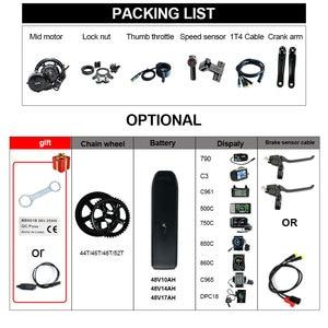Image 4 - Hot Koop Gratis Verzending Bafang 48V 750W BBS02b Elektrische Fiets Midden Aandrijfmotor Kit Mm G340.750