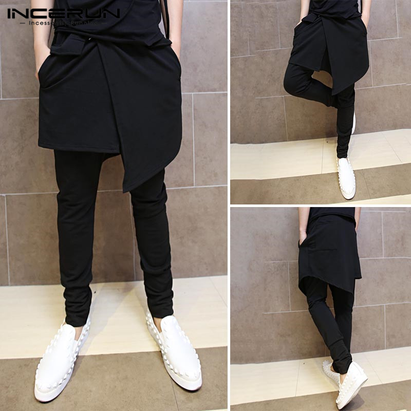 INCERUN Men Black Joggers Pants Summer 2020 Plus Size 5XL Male Loose Wide Trousers Man Causal Big Pockets Ankel Cargo Pants