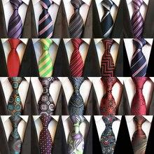 Мужские галстуки роскошные шелковые галстуки на шею 8 см Полосатый Цветочный Пейсли Классический галстук для мужчин Формальный Бизнес Свадебная вечеринка Gravata подарок