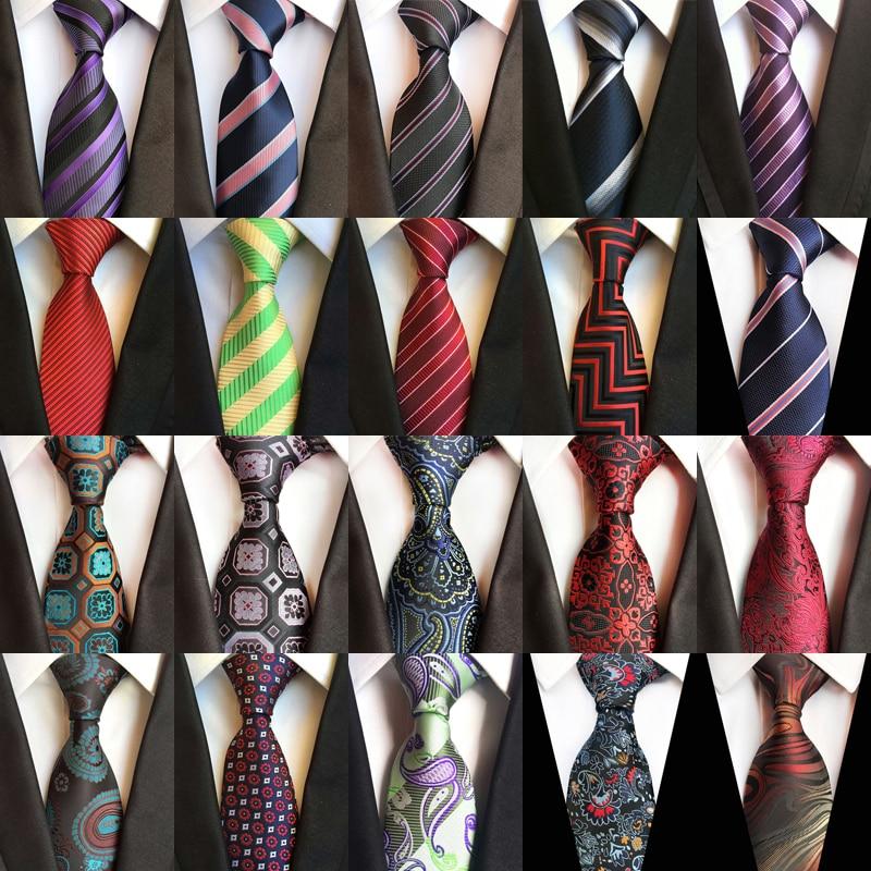 Men's Ties Luxury Silk Neck Ties 8cm Striped Floral Paisley Classic Necktie For Men Formal Business Wedding Party Gravata Gift