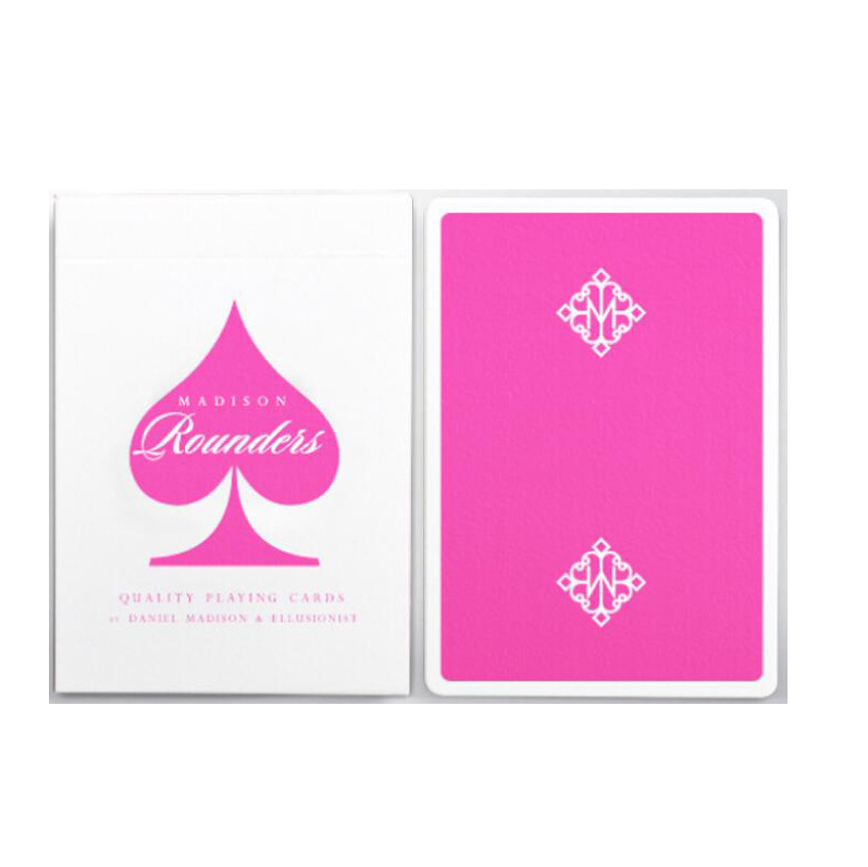 pink-madison-rounders-deck-playing-cards-deck-magic-tricks-magic-props-font-b-poker-b-font