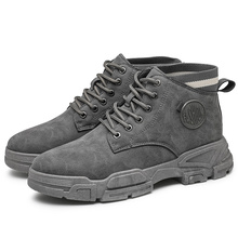 Men's New Autumn Winter Short British Tooling Boots Casual Military Shoes Trendy Snow Ankle Boots Zapatos Para Hombre Size39-44
