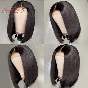 Image 5 - 2x6 peruca de fechamento do cabelo humano curto bob peruca de remy peruca de fechamento kim k para as mulheres fácil gerenciar bob peruca de renda curto